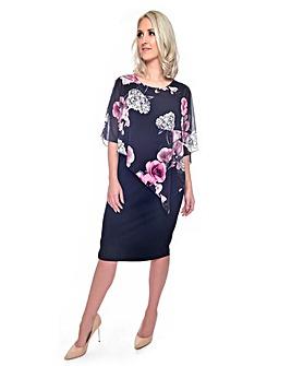 Grace chiffon overlay dress