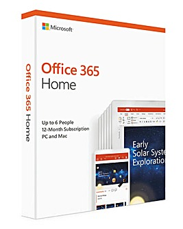 Microsoft Office 365 Home (12-month Subscription; up to 6 People)
