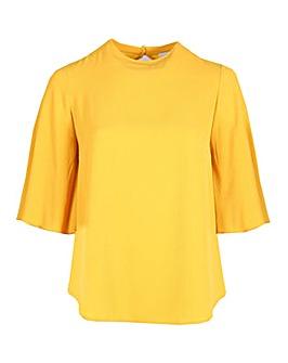 Lovedrobe GB mustard 3/4 sleeve blouse