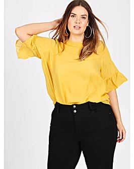 Koko mustard blouse