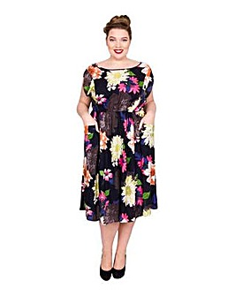Scarlett & Jo Multi Floral Pocket Dress
