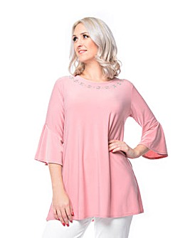 Grace flower stud tunic