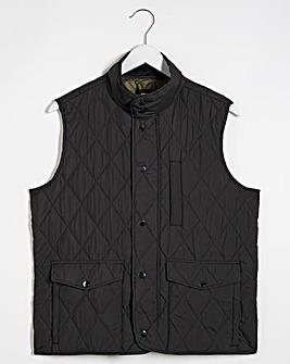 Black Quilted Padded Gilet