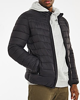 Black Lightweight Water Resistant Puffer