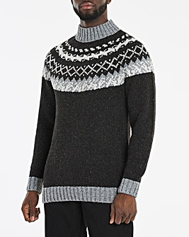 Black Chunky Fairisle Jumper