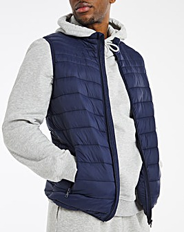 Navy Lightweight Water Resistant Gilet
