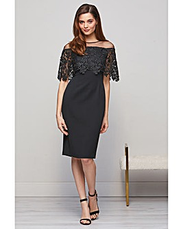 Gina Bacconi Manuela Embroidered Dress