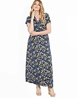 b271002598 Blue Vanilla Curve Floral Print Dress