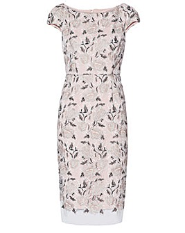 Gina Bacconi Leila Embroidered Dress