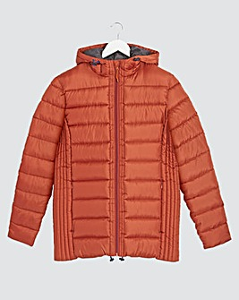 Red Recycled Wadding Padded Jacket