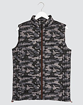 Camo Recycled Wadding Padded Gilet