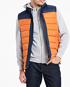 Navy/Rust Recycled Wadding Padded Gilet