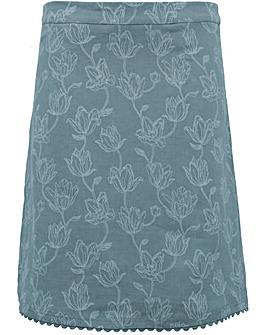 Brakeburn Tulip Linen Skirt