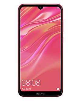 Huawei Y7 2019 Smartphone Coral Red