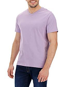 Lilac V-Neck T-shirt