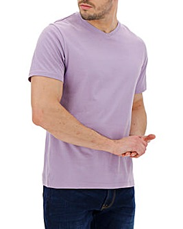 Lilac V-Neck T-shirt Long