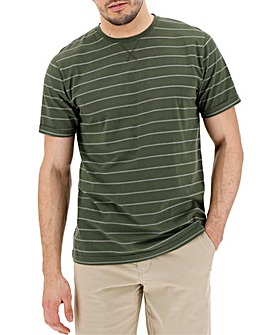 Khaki/White Stripe T-shirt