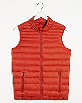 Orange Lightweight Water Resistant Gillet