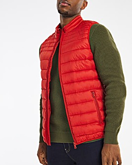 Red Lightweight Water Resistant Gilet