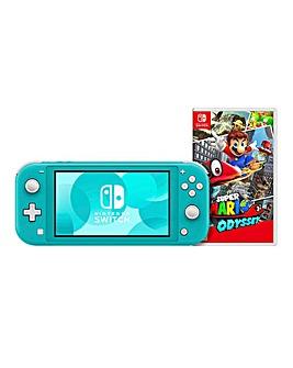 Switch Lite Turq & Super Mario Odyssey