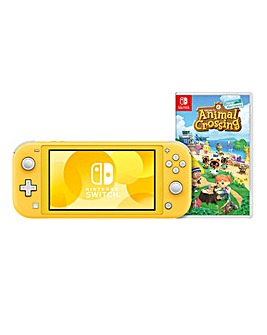 Nintendo Switch Lite Yellow & Animal Crossing