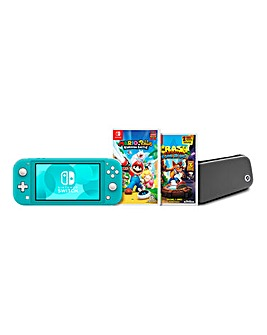 Nintendo Switch Lite Turquoise Bundle