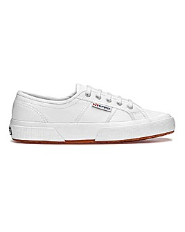 Superga 2750 Leather Lace Up Leisure Shoes Standard D Fit