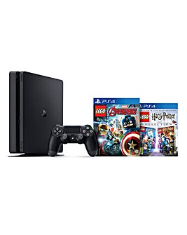 Playstation 4 500GB & LEGO Marvel Avengers + LEGO Harry Potter Collection