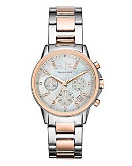 Armani Exchange Ladies Pearl Watch