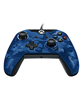 Wired Xbox One Controller - Blue Camo