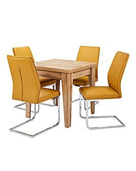 Aston Dining Table 4 Atlanta Chairs
