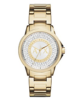 Armani Exchange Ladies Diamante Watch