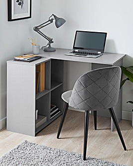 Chrysler Corner Desk with Storage