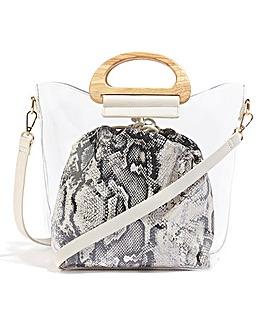 Oasis Perspex Snake Bag