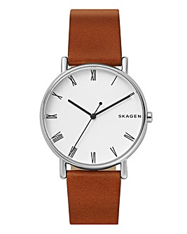 Skagen Gents Tan Leather Strap Watch