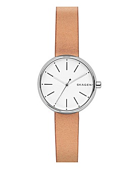 Skagen Ladies Tan Leather Strap Watch