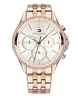 Tommy Hilfiger Rose-tone Ladies Watch