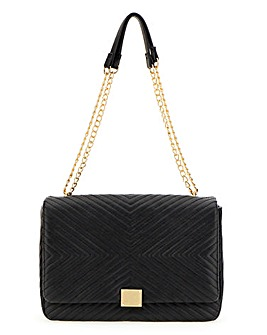 Chevron Detail Shoulder Bag