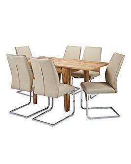 Aston Dining Table 6 Atlanta Chairs