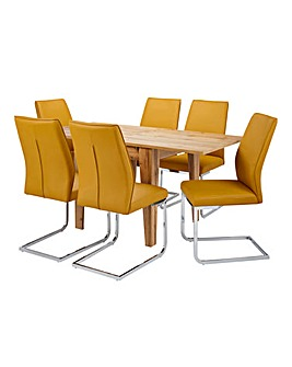 Aston Dining Table 6 Atlanta Chairs