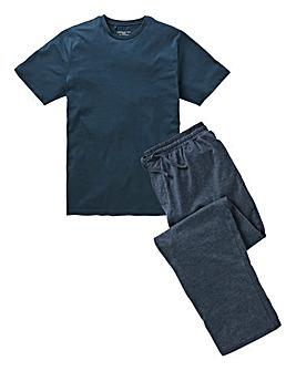 Denim/Navy Long PJ Set