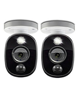 Swann Sensor Warning Light Bullet Analog CCTV Camera 1080p - 2 Pack
