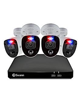 Swann DVR-5680 4K / 2TB / 4xPRO-4KRL 4K Enforcer Bullet Analog CCTV Cameras
