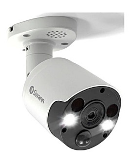 Swann 4K Bullet Security Camera - Face Recognition / Spotlights / 2-Way Audio