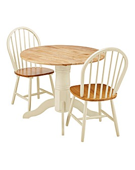 Padstow Dropleaf Table with 2 Chairs