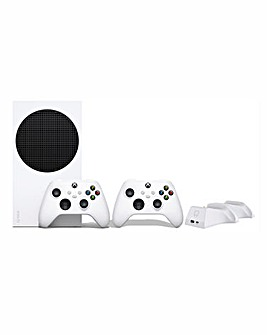 Xbox Series S & White Controller + Twin Docking Station