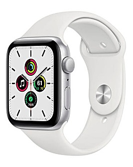 Apple Watch SE 40mm Silver Aluminium Case & White Sport Band