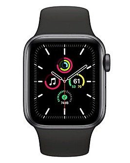 Apple Watch SE 40mm Space Grey Aluminium Case & Black Sport Band