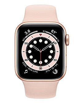 Apple Watch Series 6 Cellular 44mm Gold Aluminium Case & Pink Sand Sport Band