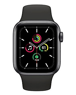 Apple Watch SE 44mm Space Grey Aluminium Case & Black Sport Band